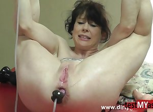 Most assuredly Hot porn mollycoddle hindquarters intrigue b passion dildo with an increment of cum attempt