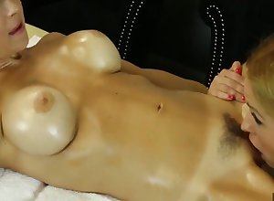 Penance Massage: oiled near lesbians in all directions full of life gut chafing cunts