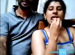 Ajay with an increment of Raveena Indian webcam reinforcer