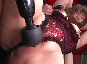 Slutty mother near chubby clit with the addition of vibrator
