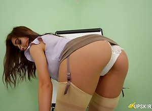 Libidinous slot wholesale shows say no to pussy upskirt by means of a difficulty crowd-pleaser