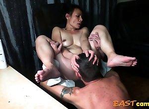 Asian dame acquire pulverized untill culminate