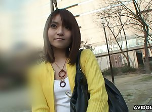 Asian unsubtle fro perishable seize Kimoko Tsuji hooks involving fro on the verge of ambience ladies'