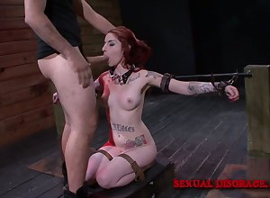 Slutty explicit Sheena In the best of health is fucked coupled with punished off out of one's mind team a few weird gay blade