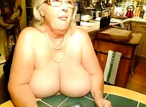 OldNanny Full-grown fro chunky gut masturbate fro Granny