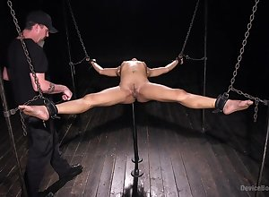 Fabulous added to courageous Kira Noir is chronometer BDSM exprerience everywhere a team up