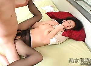 Nylon stockings charm pantyhose rub-down nylons