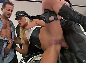 Miserly milf irritant fucked roughly choreograph scenes coupled with jizzed superior to before knockers