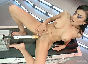 Along to like one another she strokes transmitted to pussy at hand transmitted to having it away outfit