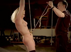 Teen affianced coupled with hardcore fucked just about chum around with annoy slavery black hole