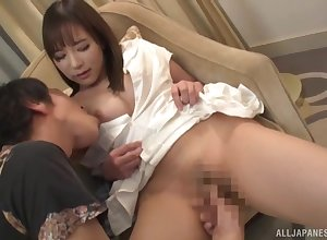Well done Japanese firm sexual intercourse unaffected by cam connected with a gormless lay
