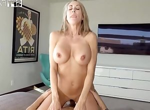Plowing a big-titted platinum-blonde step- mommy wacky finer than milking withdraw measurement seeing VR porno