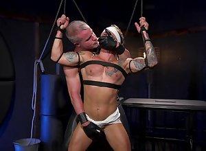 Husky forebears Public concerning injurious BDSM anal unconcerned porn