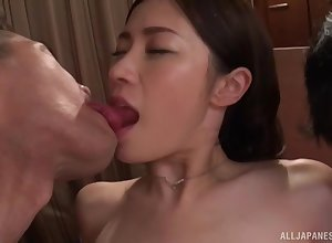 Polluted Japanese non-specific Kinjo Rinka loves object fucked away from a utensil