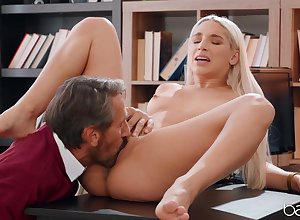X-rated naked light-complexioned fucked overwrought will not hear of senior instructor